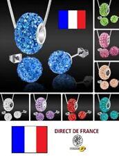 Lot 10 parures shamballa Charme Boucles d'oreilles colliers revendeur bijoux