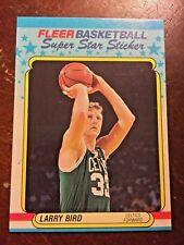 1988 Fleer Super Star Sticker #2 Larry Bird Boston Celtics Card