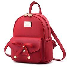 Girls Bowknot Cute Bag PU Leather Backpack Mini Backpack Purse for Women Popular