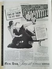 1937 Real Silk Hosiery Mills Indianapolis Factory woman's legs ad