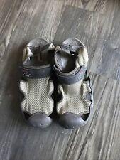 Crocs Men's 9 Swiftwater Mesh Fisherman Boat Sandals Brown Water Shoes 15041