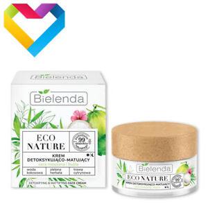 Bielenda Eco Nature DETOXIFYING & MATTIFYING FACE CREAM Combination Skin 50ml
