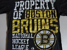 Black Boston Bruins Majestic Ring Spun NHL Hockey t shirt Adult S Free US SHIP