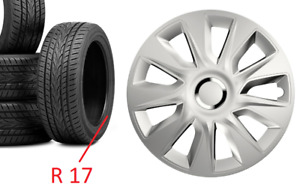 """PEUGEOT 3008 SET OF 4 17"""" WHEEL TRIMS COVERS SILVER NOT BLACK HUB CAPS 17 INCH"""