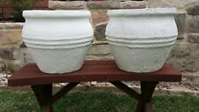 2 Garden Courtyard Balcony Verandah Pots White Pickup Only No Postage