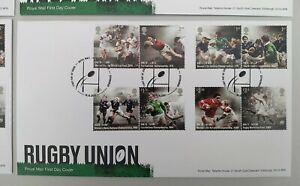 2021 150 Years of Rugby Union Set of 8 on FDC Tallents House Postmark
