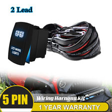 TWO Lead Up to 312W Work LIGHTS Rocker Switch Wiring Harness Fuse Universal