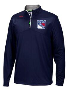 New York Rangers Reebok NHL 2016 Center Ice Speedwick 1/4 Zip Sweatshirt