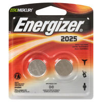 Energizer CR2025 BP 3V Lithium Coin Cell Battery 2 Pack New