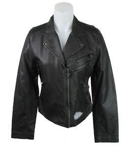 Kansas City Chiefs NFL G-III Women's Black Faux Leather Moto Jacket *FLAWED*