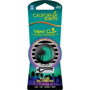 California Scents ALOE BLOSSOM Vent Clip Car Air Freshener Freshner FREE POSTAGE