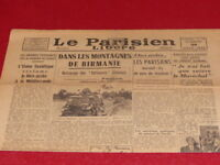 "[ Press WW2 39-45] "" the Parisien Timed Release "" #271/29 June 1945"
