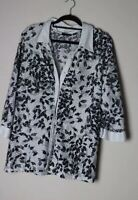 Avenue Top / Blouse Size 22/24 White  Length 31 Inches NWOT