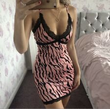 Brand New Tiger Print Lace Cami Mini Bodycon dress
