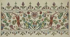 Vintage Visage iron on embroidery transfer- Antique Jacobean Border Design