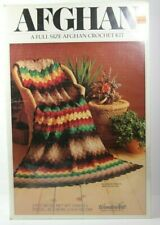 "New WonderArt Wonder Art No. 2403-01 Granny 45"" x 60"" Afghan Crochet Kit Usa"