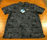 Columbia PHG Hunting S/S Button Front Shirt Adult L Omni Shade UPF 50 NWT Blue