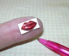 "Miniature Lola Foil-Wrapped ""Chocolate"" Lips DOLLHOUSE Valentine's Day 1:12"