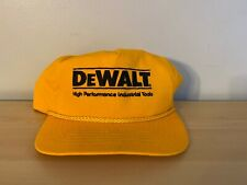 VTG Dewalt High Performance Industrial Tools Yellow Hat Black Lettering Snapback