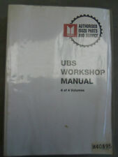 HOLDEN ISUZU 1992/- JACKAROO  UBS SERIES FACTORY WORKSHOP MANUAL VOLUME 4 OF 4