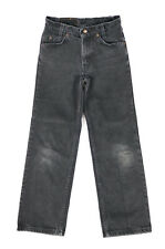 Vintage Youth Boys Levis 550 Distressed Relaxed Fit Slim Black Jeans Fits 23x26