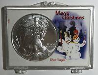 SNOWMEN - MERRY CHRISTMAS - 2018 American Eagle 1 oz. - .999 FINE SILVER COIN