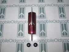 1973-1974 Oldsmobile Cutlass | Hood Header Panel Rocket Emblem with Hardware
