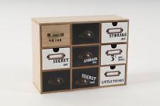 Mini Kommode Schrank Schränkchen aus MDF 9 Schubladen ca. 30 x 13 x 23 cm