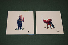 Olly Moss What a bunch of a-holes Print Set Numbered groot rocket die hard