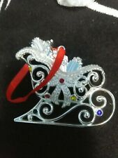 Lenox Bejeweled Sleigh Ornament Silverplate Multicolor