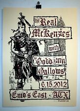 The Real McKenzies and Goddamn Gallows Austin gig poster Scottish punk