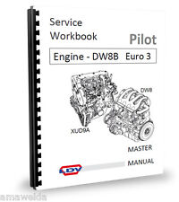 Peugeot XUD9A-Moteur DW8 Workshop Manual L4 Euro 3 LDV Pilot