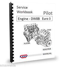 Peugeot XUD9A - DW8 Engine Workshop Manual L4 euro 3 LDV Pilot