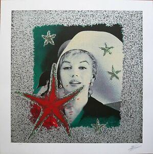 Omar Ronda serigrafia Marilyn Forever 2009 70x70 firmata numerata  44/60