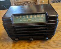 """RARE 1947 DELCO MODEL R-1227 TABLETOP TUBE RADIO """"CHIEFTAIN"""" CAR BAKELITE VTG"""