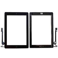 Pantalla Táctil para IPAD 4 BOTON HOME Cristal Digitalizador Negro con Adhesivo