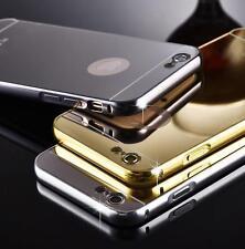 Deslizable Aluminio Ultrafina Espejo Metal Funda Para iPhone5 5C 6 7S 7 7plus