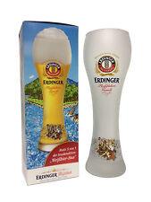 "Erdinger - Bavarian German Beer Glass 0.5 Liter ""Rafting Gaudi - Beer Bua"" - NEW"