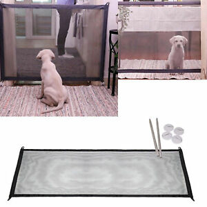 Portable Magic-Gate Folding Safety Guard Nylon Mesh Net Fence for Pet Dog Cat