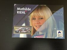 CP POSTCARD CARTOLINA PEUGEOT 207 MATHILDE RIEHL RALLYE WRC RALLY