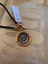 $44 Lauren Ralph Lauren Coin Bracelet On Leather M187