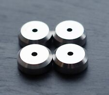 HEAVY - British Made - 4x XLARGE CNC Stainless Speaker spike pads shoes feet