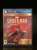 Marvel Spider-Man Game of the Year Edition for PlayStation 4 (PS4) - NEW SEALED