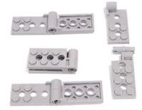 LEGO - 4 x Gelenkplatte 2x8 hellgrau mit Pin / Scharnier / 98286 98285 NEUWARE