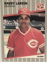 1989 Fleer Barry Larkin Baseball Card Cincinnati Reds #164 Mint HOF SS Sports