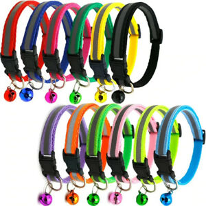 Reflective Dog Collar Safety Nylon Collars for Dogs Puppy Necklace