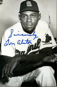 Tom Alston (1st Black on Cardinals) signed postcard- INPERSON w/ COA (d.1993)
