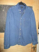 H&M Jeanshemd blau Gr. L 100% Baumwolle H&M Top.-Zustand!