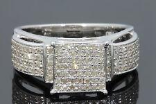 .65 CARAT REAL GENUINE DIAMONDS WOMEN WHITE GOLD FINISH ENGAGEMENT WEDDING RING