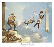 Michael Parkes Desert Dream Fantasy Magical Weird Odd Print Poster 31.5x27.5
